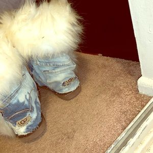 Custom Blue Jean Ugg Boots